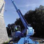 GTH4018 SR at Work with Hydraulic Winch Rear View 208